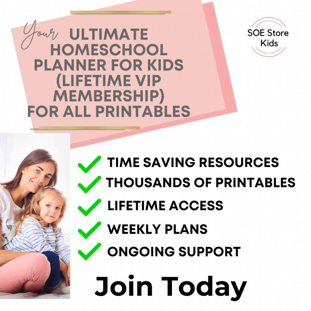 Preschool Nursery Kindergarten prinable pdf pack bundle VIP membership