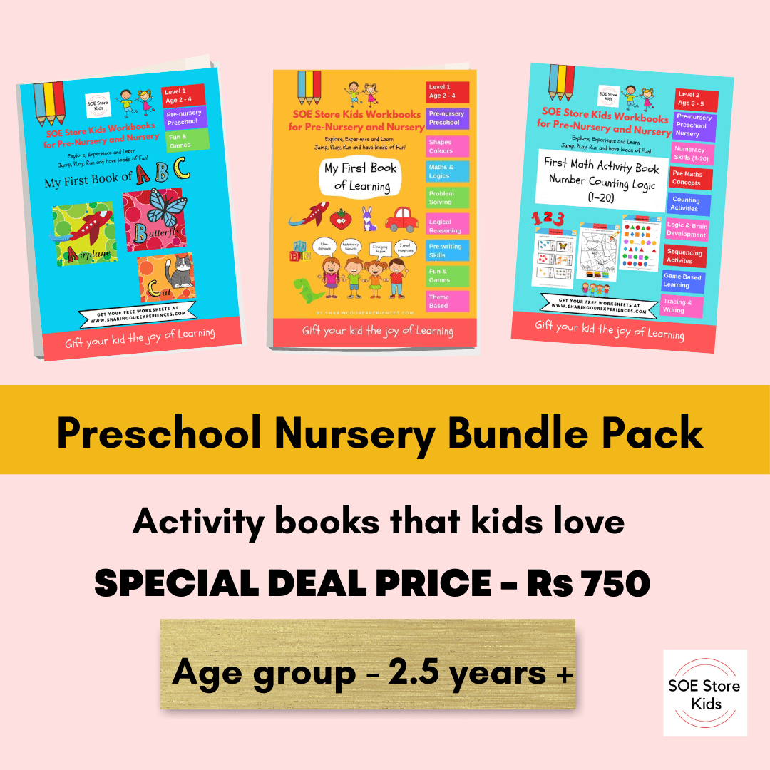 Preschool Nursery books set activity books bundle homeschooling