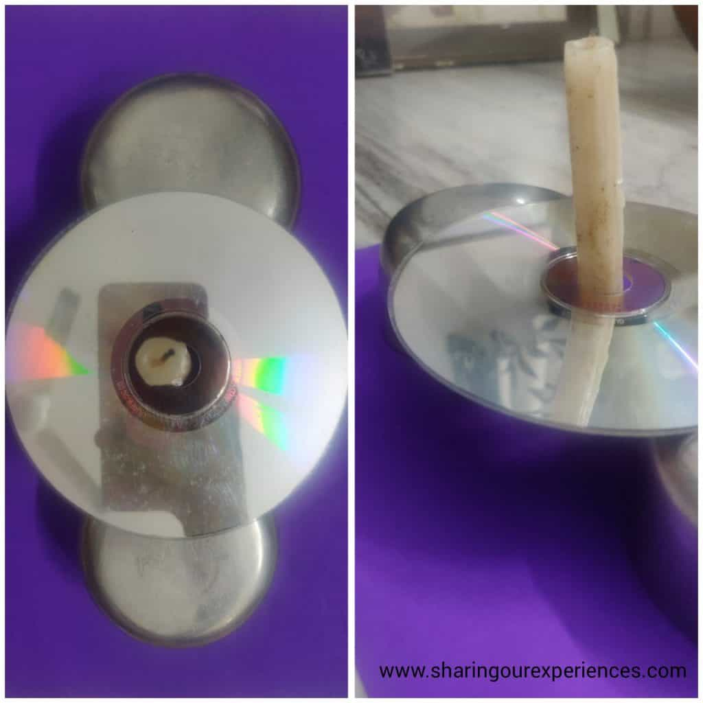 fun science experiments with candle rainbow on a cd compact disc simple toddler experiments things to do at home