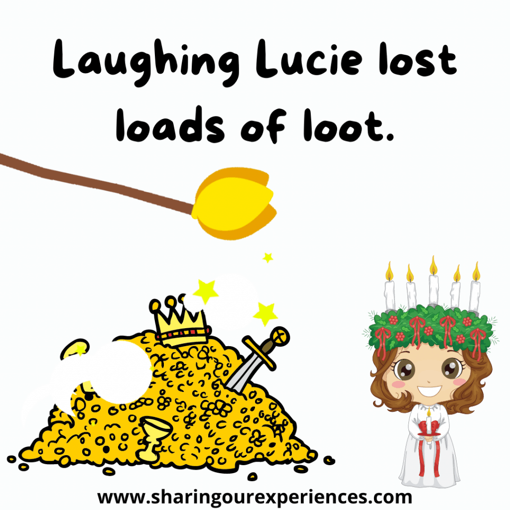 Funny English tongue twister challenge Laughing. Lucie lost loads of loot.png