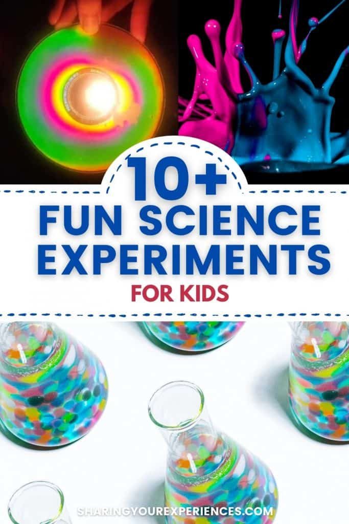 Fun science experiments for 3 to 5 years old preschoolers with material easily available at home