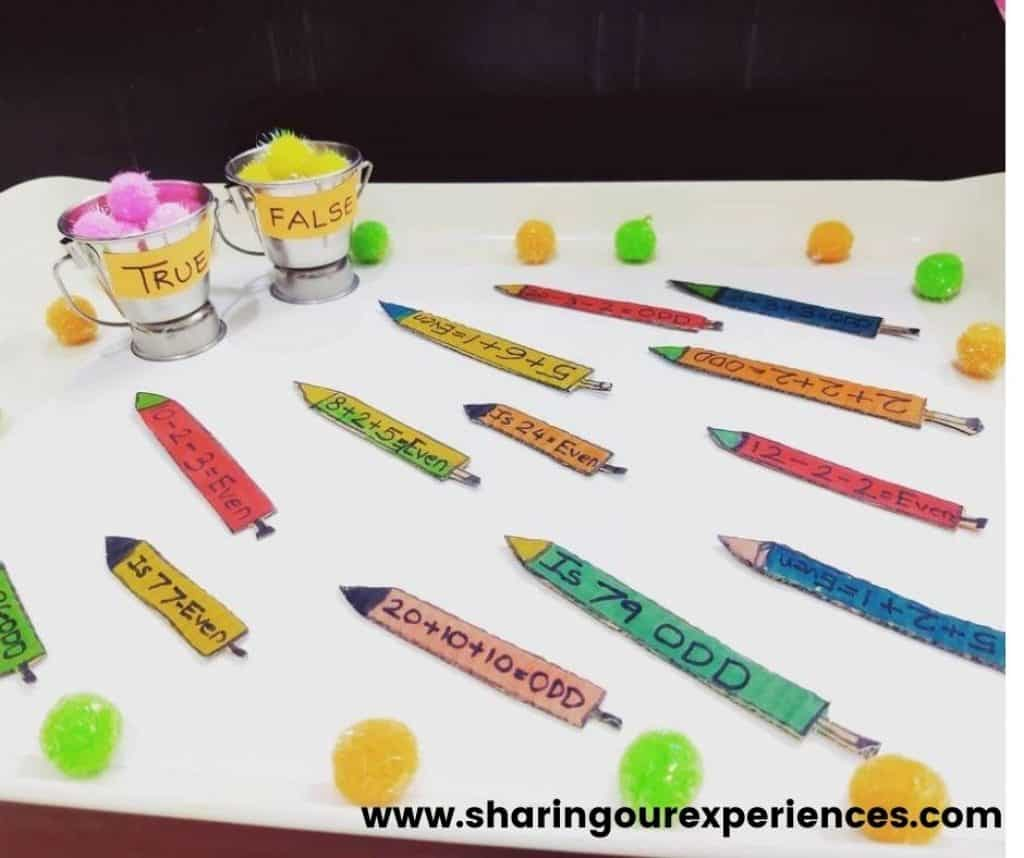 Easy and fun colorful Holi theme based activity for preschool, toddler and kindergarten. Perfect for kids to learn math