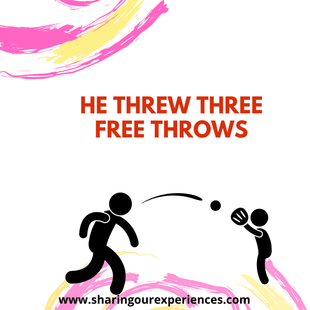 Easy and funny tongue twister for challenge for children.He threw three free throws.