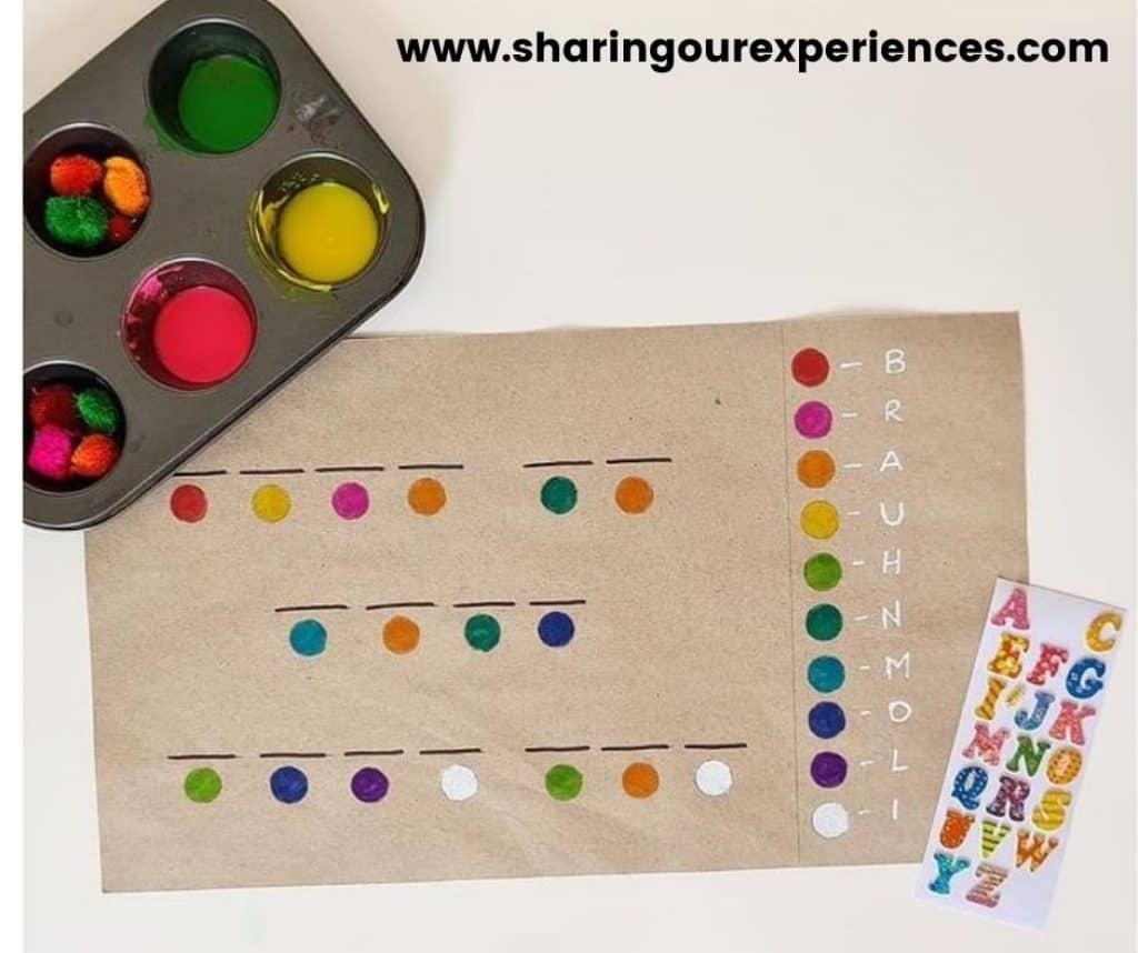 Fun Holi color coding activity for toddlers, preschoolers and kindergarten. decode the Secret using color coding is perfect for problem solving, alphabet and color recognition skills.
