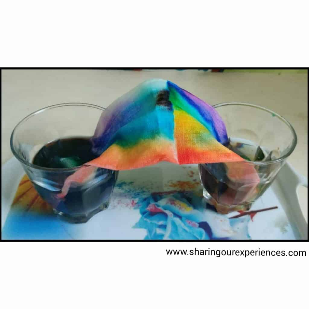fun rainbow experiments tissue paper science fun simple at home experiments toddlers preschoolers kids