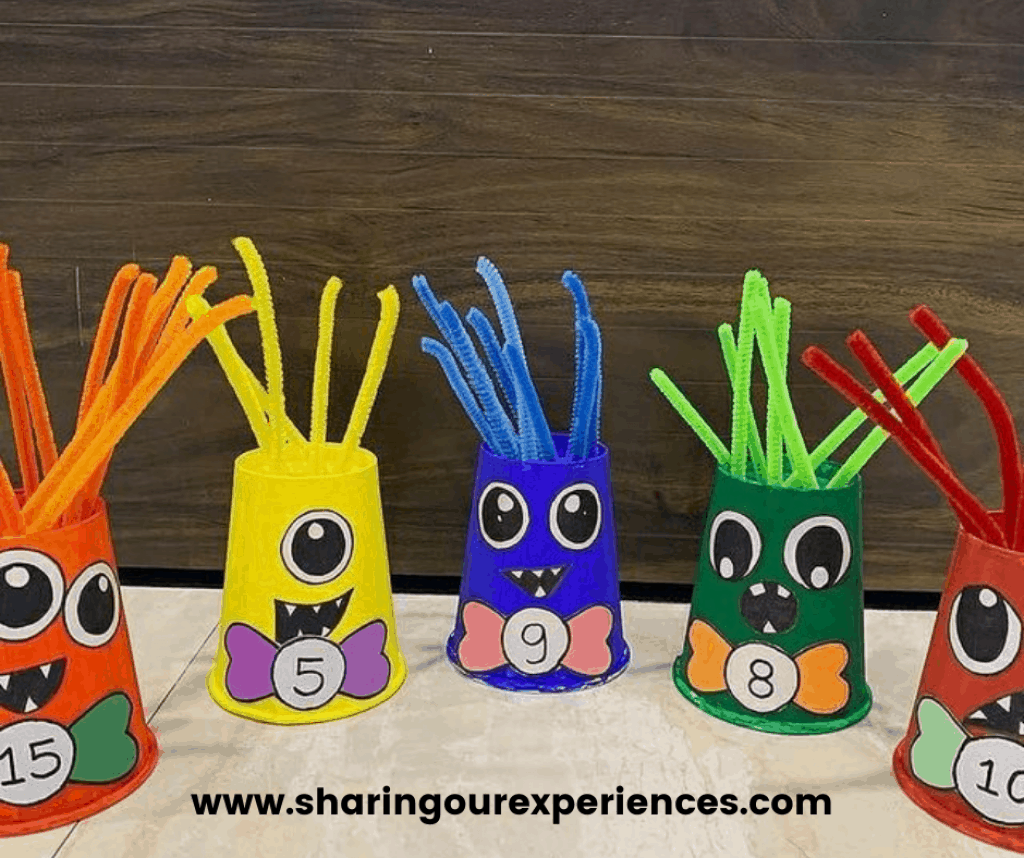 Scary monster number recognition activity for toddler, preschooler and kindergarten. Perfects for kids to engage and learn in a fun easy.