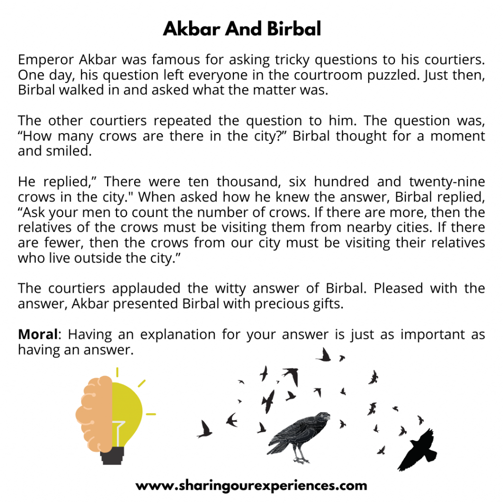 Famous Moral Stories For Kids- Akbar And Birbal.