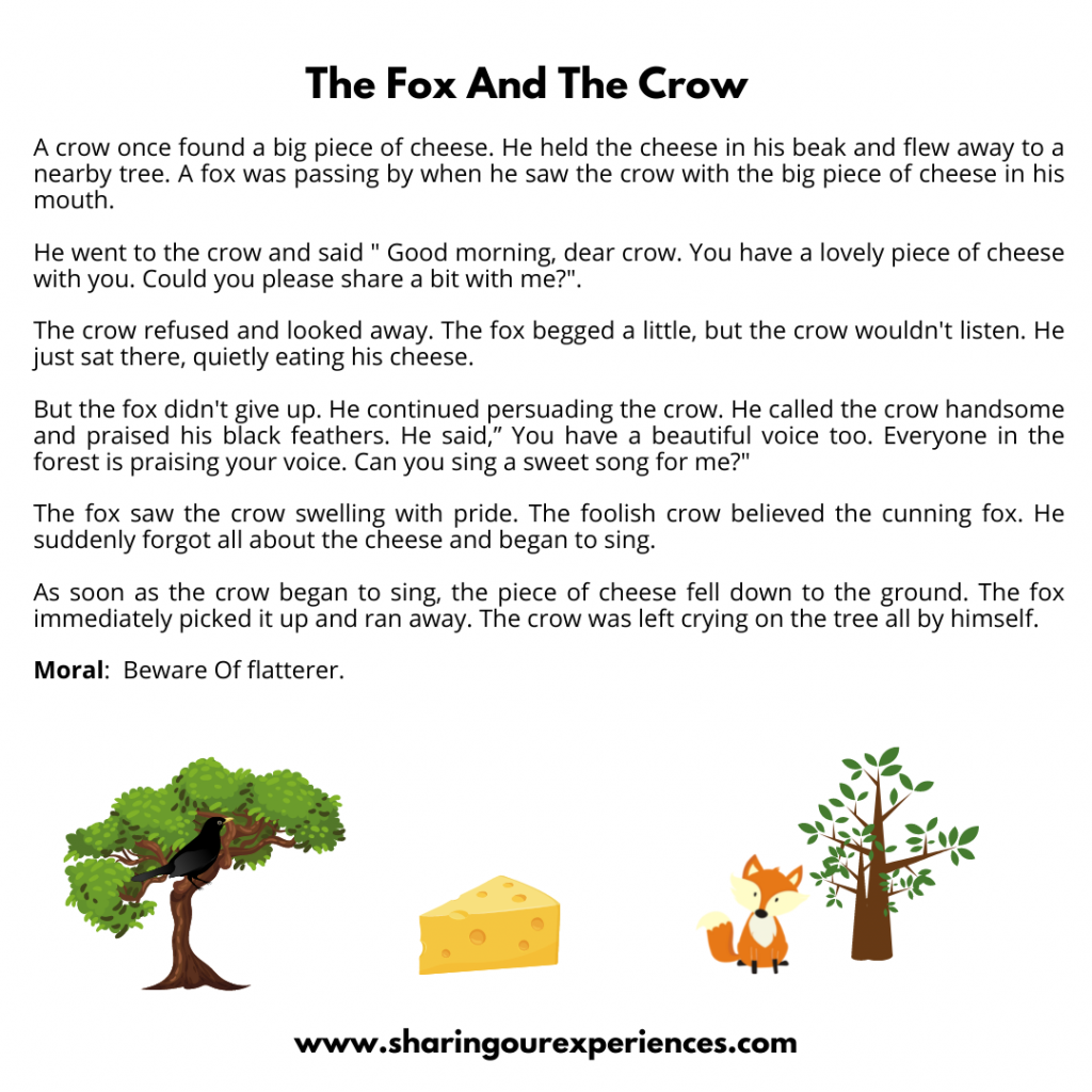 Famous Moral Stories For The Kids- The Fox And The Crow.