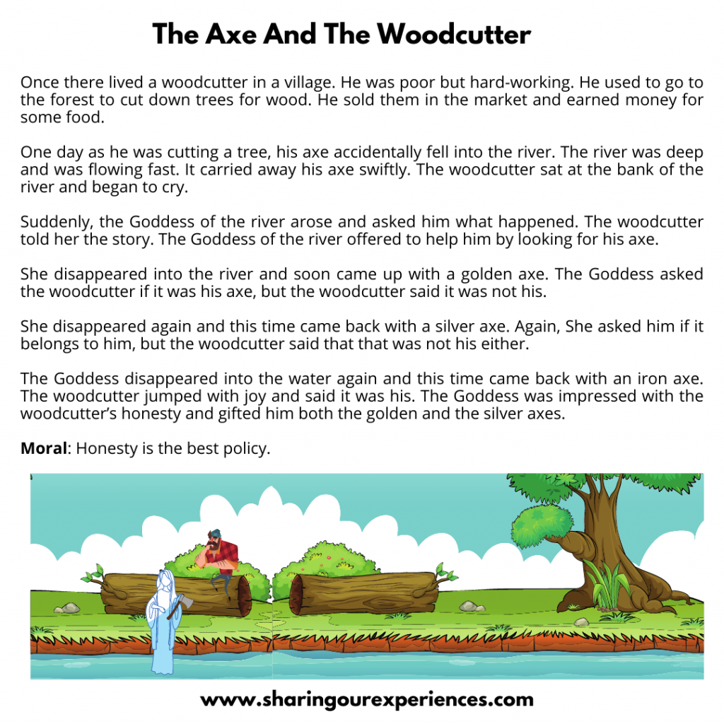 Famous Stories For Kids- The Axe And The Woodcutter