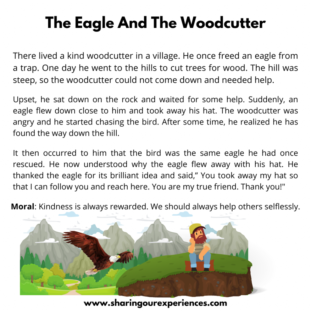 Most Popular Moral Stories For Kids- The Eagle And The Woodcutter.