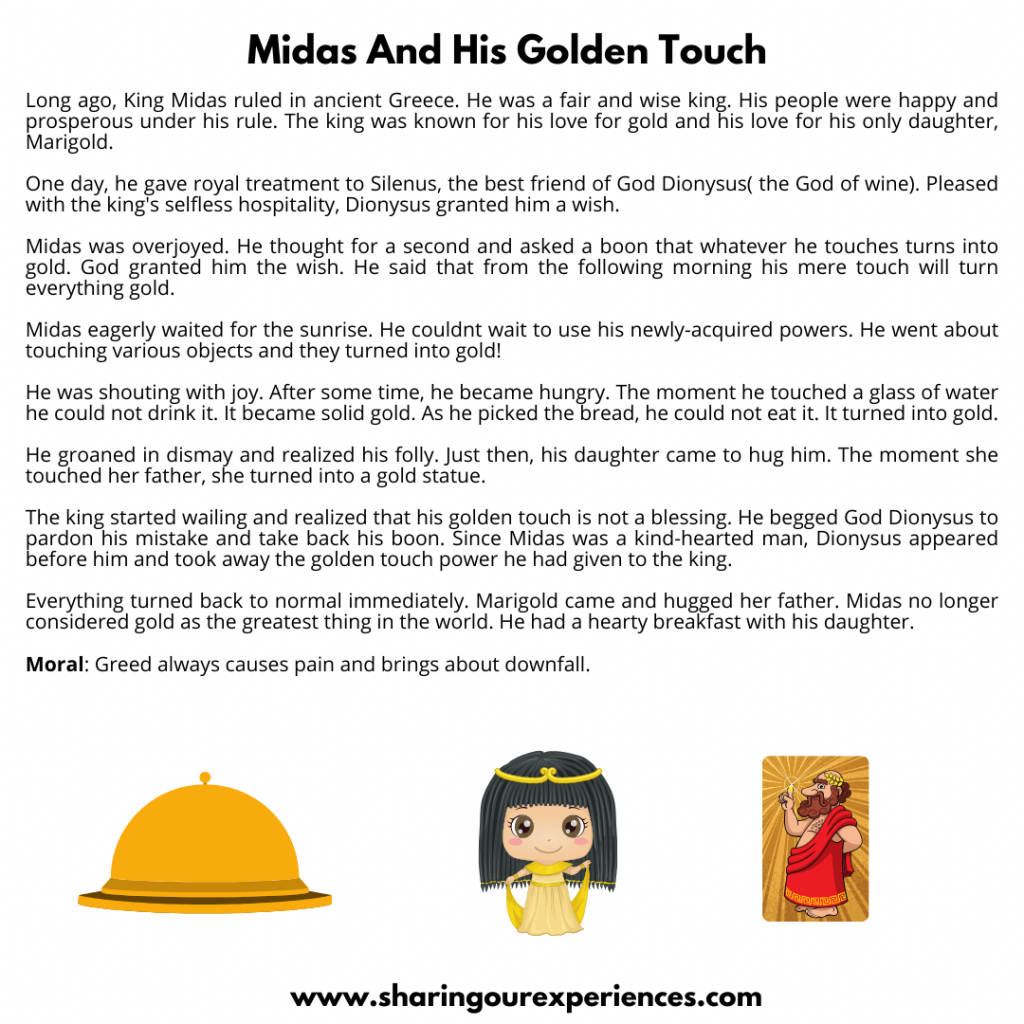 Most Popular Bedtime Moral Stories For Kids- Midas  And The Golden Touch.