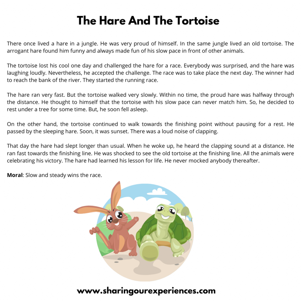 Most Popular Bedtime Stories For Kids- The Hare And The Tortoise.