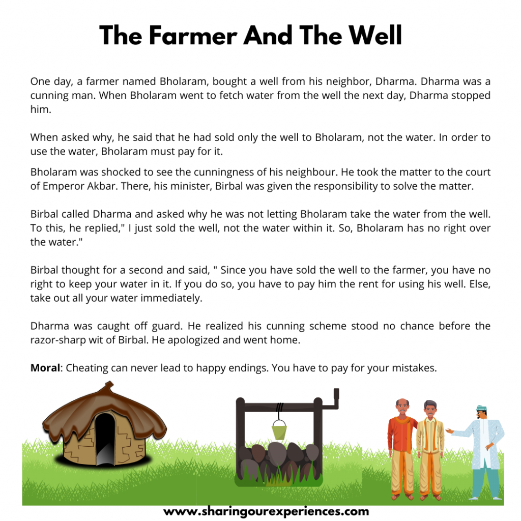 Most Popular Moral Stories For Kids- The Farmer And The Well.