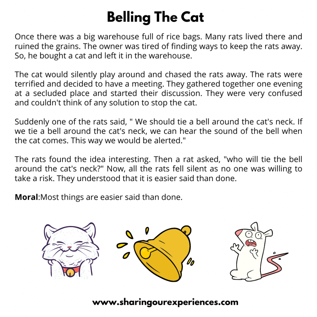 Popular Moral Stories For  The Kids- Belling The Cat.