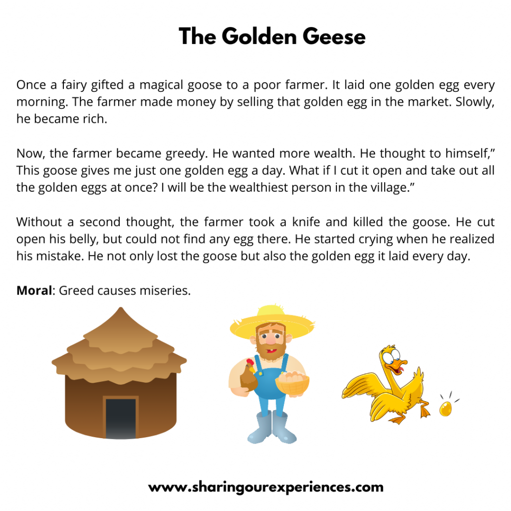 Popular Moral Stories For The Kids- The Golden Geese.