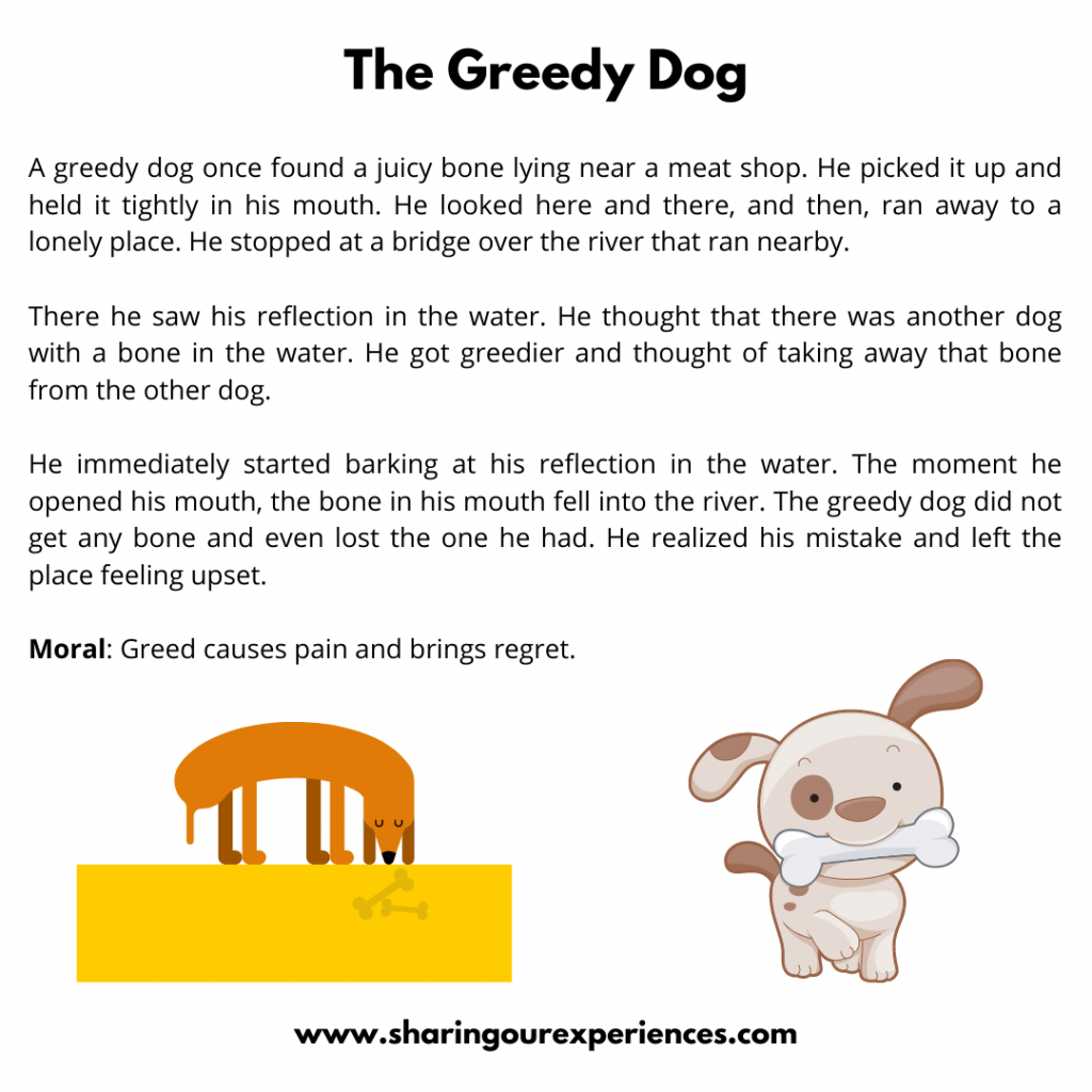 Popular Moral Stories For The Kids -The Greedy Dog.