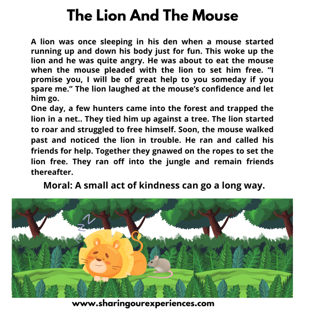 Famous Stories for kids- The Lion And The Mouse