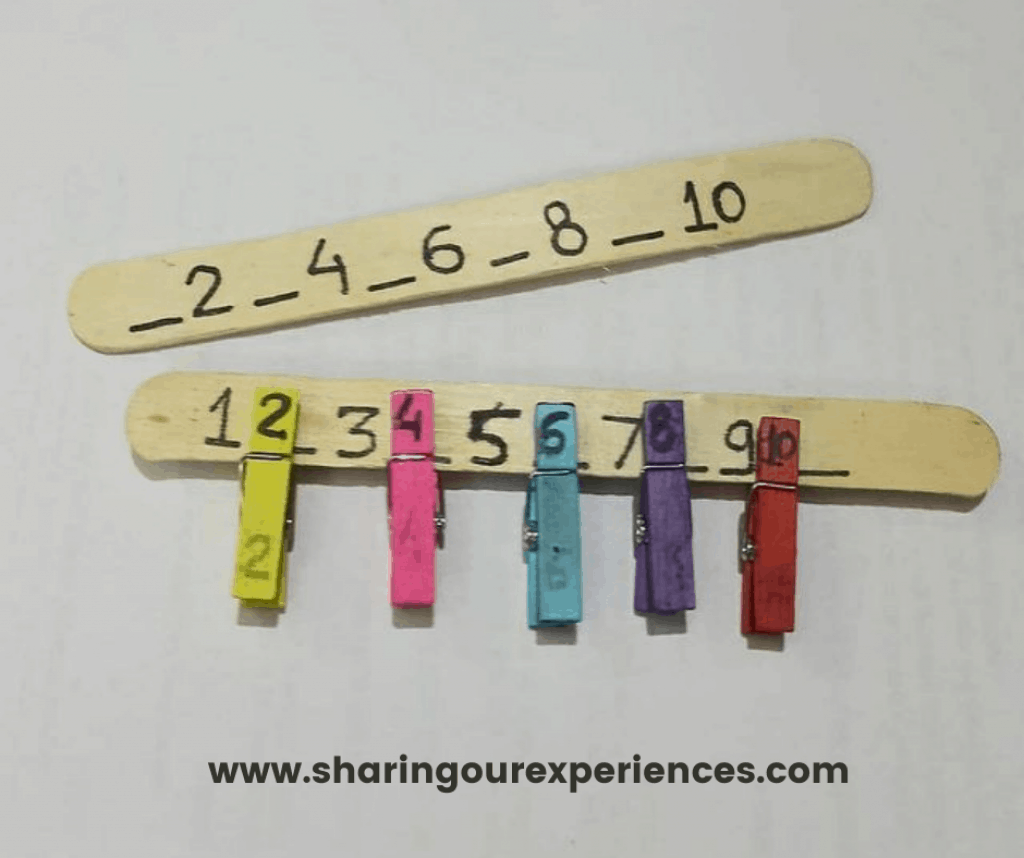Number recognition activity for preschooler, kindergarten and toddlers. Fun and easy missing number game to play and learn anytime, anywhere.
