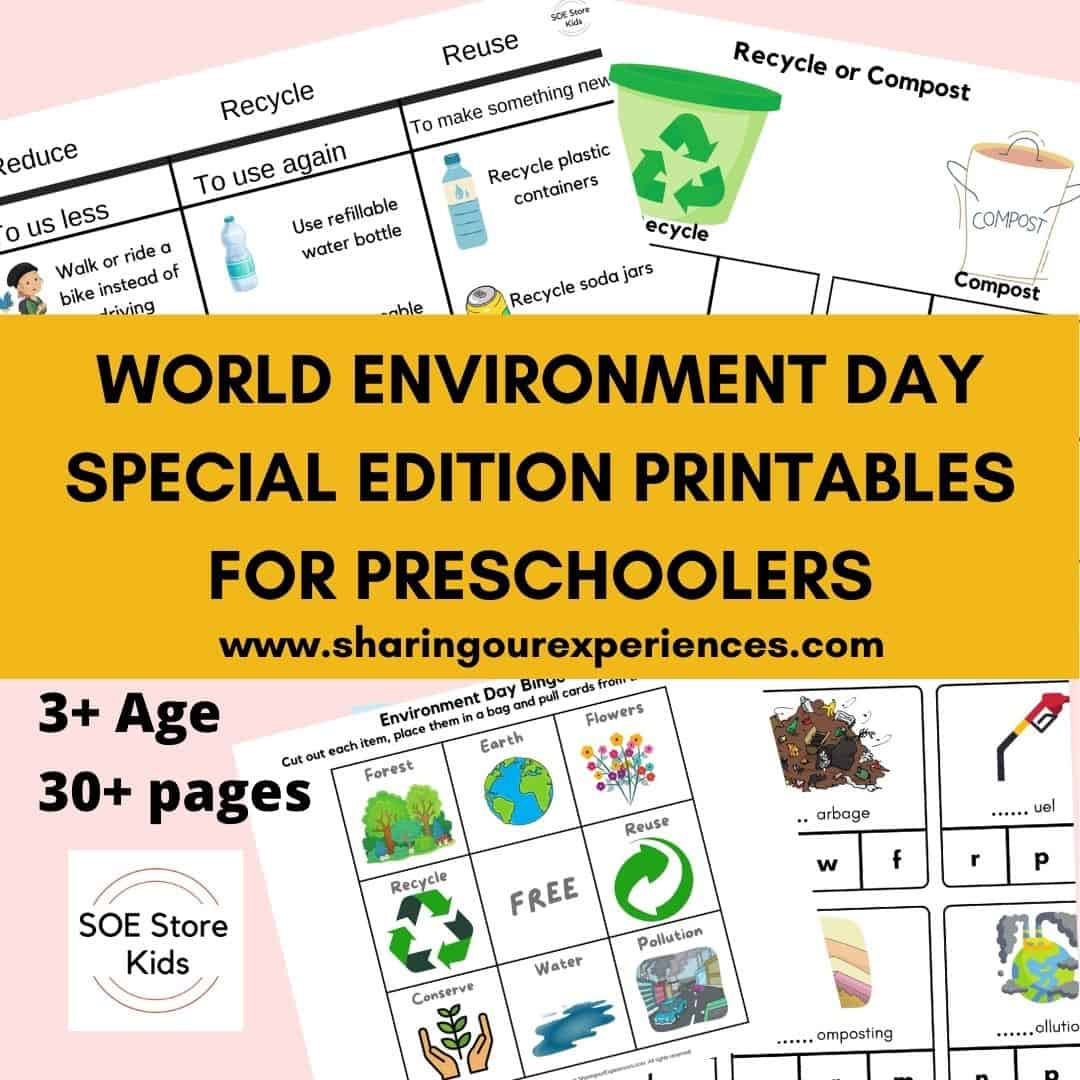 World Environment Day Special Edition Printables for Preschoolers