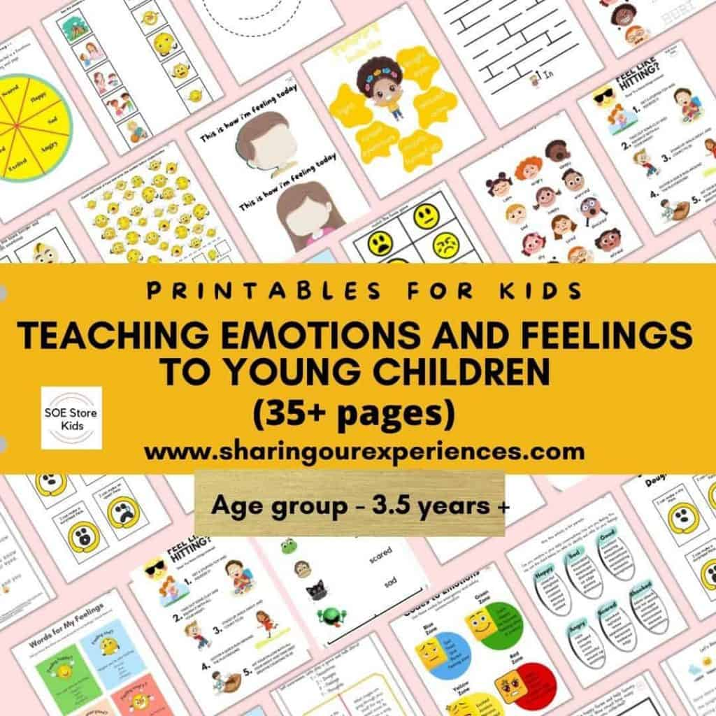 Teaching emotions and feelings to young children printable pack