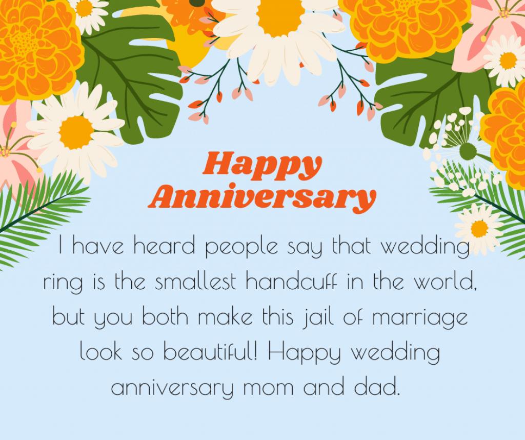 funny wedding anniversary wish