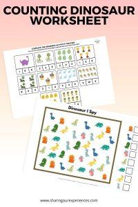 Counting dinosaur worksheet
