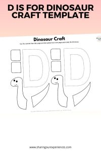 D is for dinosaur craft template