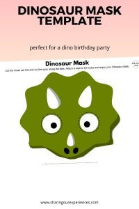 Dinosaur Mask Template