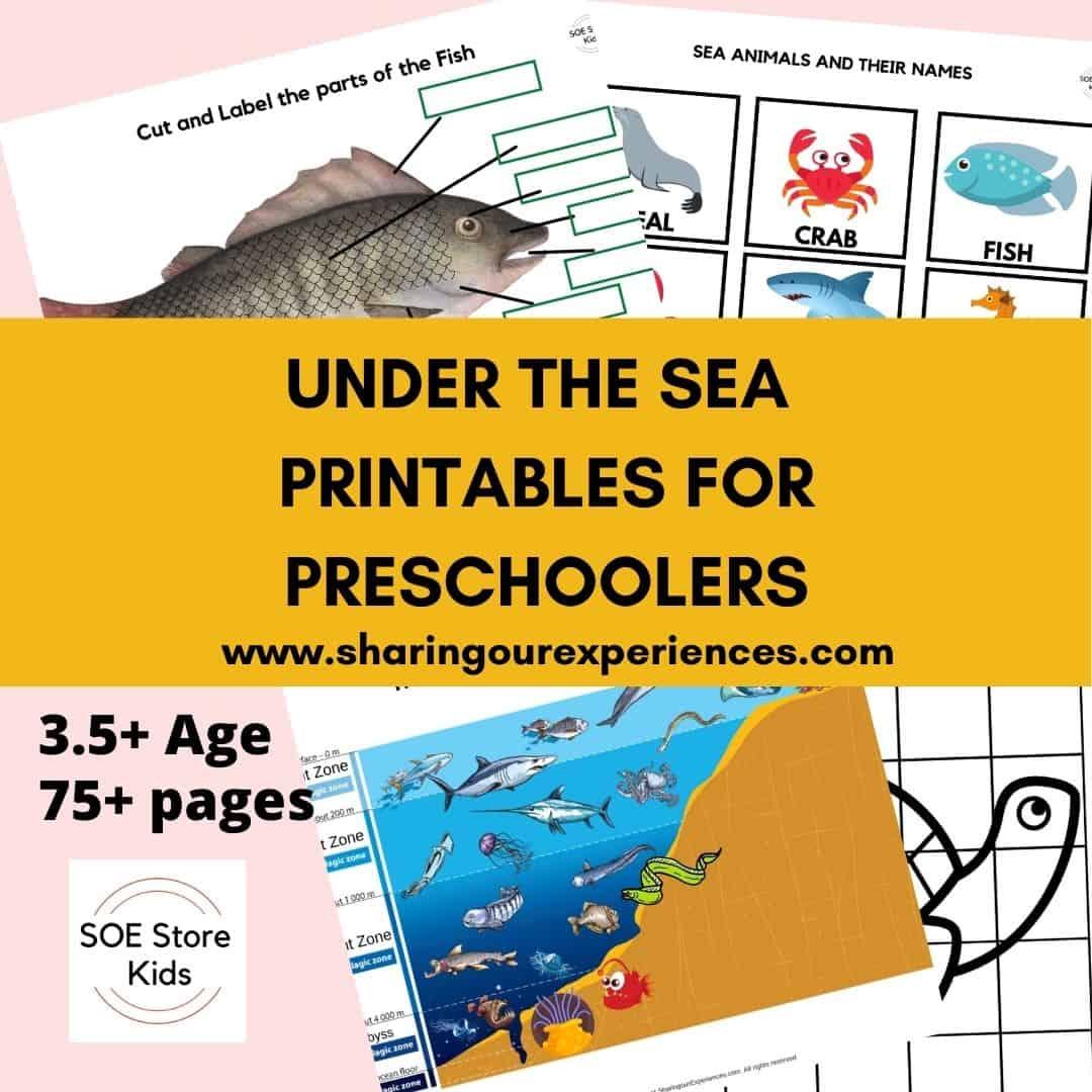 Under the sea printables for preschoolers