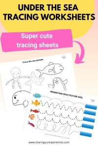 under the sea tracing worksheets