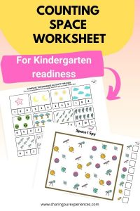 Counting SPACE worksheet