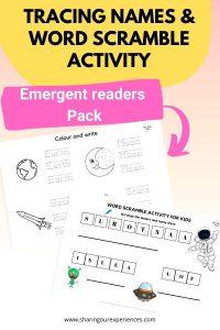 Tracing names & word scramble activity