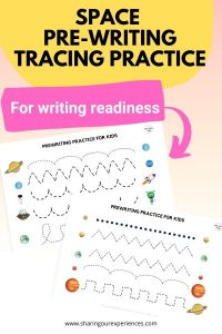 SPACE Pre-writing tracing practice