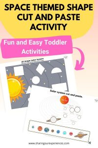 sPACE THEMED SHAPE CUT AND PASTE ACTIVITY