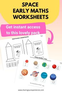 SPACE early maths worksheets