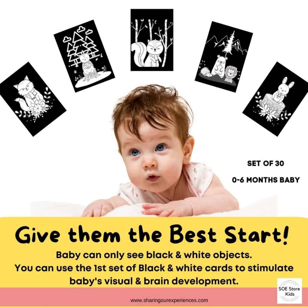 Black and white high contrast images for babies