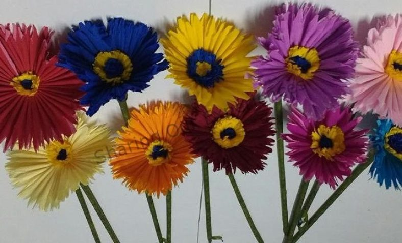 How to make crepe paper daisies mightylinksfo