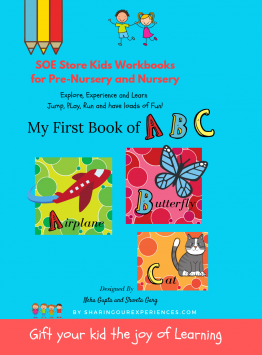 SOE store Preschool Worksheets Alphabets activity book for Nursery Prenursery Montessori - My first book of ABC (Capital Alphabets activity workbook) for toddlers preschoolers (2-4 years) - Identification, Recognition and Matching activities