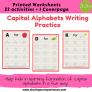 Capital Alphabets Writing Practice Worksheets for kids 3.5 yrs and above – Alphabets Writing (Cover page + 32 activities) # Printables # Worksheets