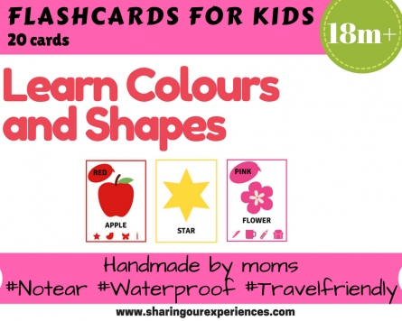Colours and Shapes Flash cards for kids