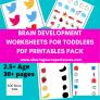 Multiple Brain Development Worksheets Activities for toddler pdf downloadable