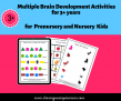 SOE Store Kids Multiple Brain Development Activities for 3+ years – Sudoku, Memory game, Odd one out and much more#PDF Downloadable Worksheets