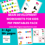 SOE Store Kids Multiple Brain Development Activities for 3+ years PDF downloadable worksheets – Sudoku, Memory game, Odd one out and much more