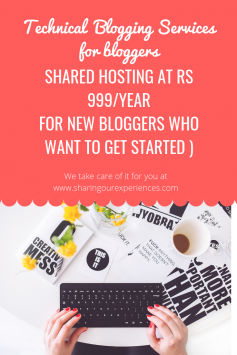 Cheap hosting at Rs 999 Technical Blogging Services
