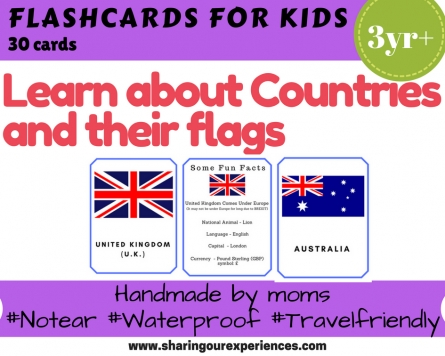 Countries and Flags flash cards