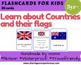 Countries and Flags Flashcards for kids   #Travelfriendly #Handmade by #moms #Flashcards #Riddles #Countries #Flags