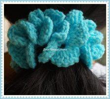 5how to crochet a hair scrunchies Design 1