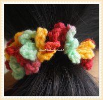 5how to crochet a hair scrunchies Design 2