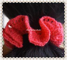 5how to crochet a hair scrunchies Design 3