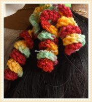 5how to crochet a hair scrunchies Design 5